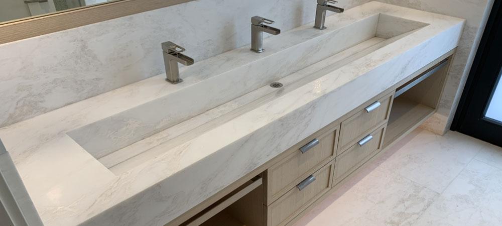 Quartzite Bathroom Countertops Stone Tech Fabrication